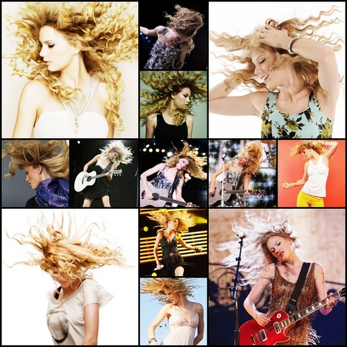 Hair flip collage