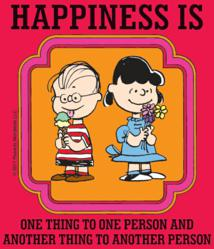 Peanuts karatasi la kupamba ukuta containing anime titled Happiness is...
