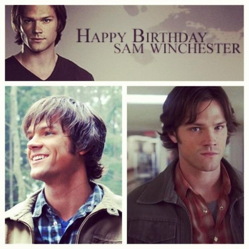 Sam Winchester wolpeyper with a portrait titled Happy Birthday Sammy <33