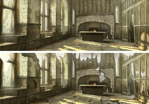 Game of Thrones پیپر وال containing a portcullis and a living room titled Harrenhal Concept Art