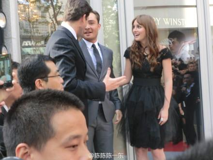 Ed & Leighton wallpaper with a business suit titled Harry Winston Store Opening Shanghai - April 27, 2012