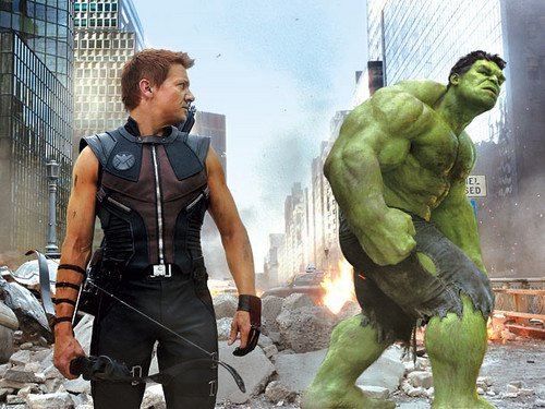 Hawkeye and Hulk