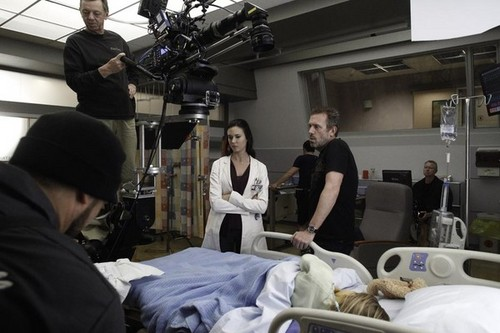 HouseMD-8x19-The C-Word BTS - house-md Photo