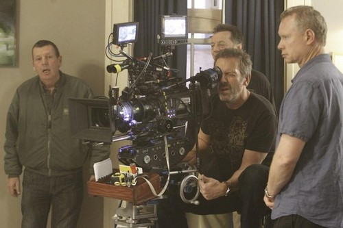 House M.D. wolpeyper titled HouseMD-8x19-The C-Word BTS