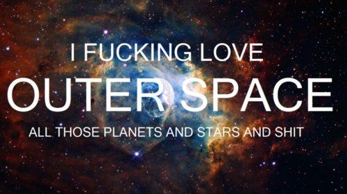 I l'amour Outer l'espace