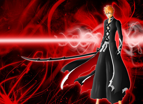 animé Bleach fond d'écran probably with a feu and a feu titled Ichigo's new Bankai