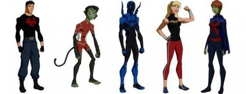 Invasion: Superboy, Beast Boy, Blue Beetle, Wonder Girl and Miss Martian