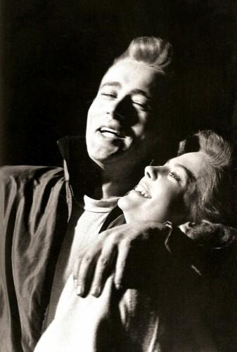 James Dean and Natalie Wood