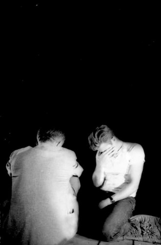 James Dean and Nicholas rayo, ray on the set of Rebel Without A Cause