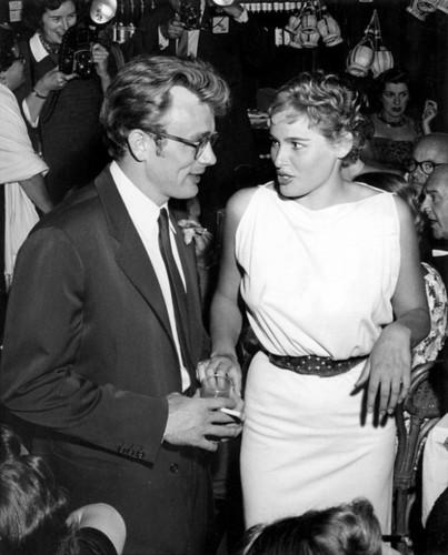 James Dean and Ursula Andress at Frank Sinatra 's Shin Dig