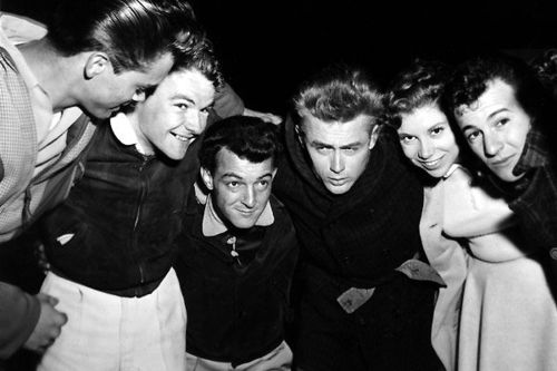 James Dean and friends