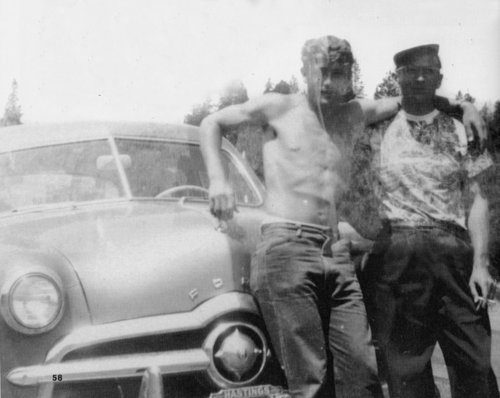 James Dean with father Winton