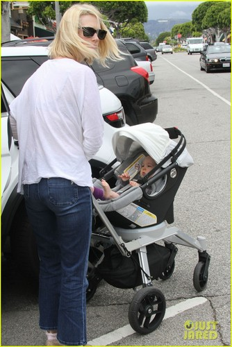 January Jones: Lunch with Baby Xander
