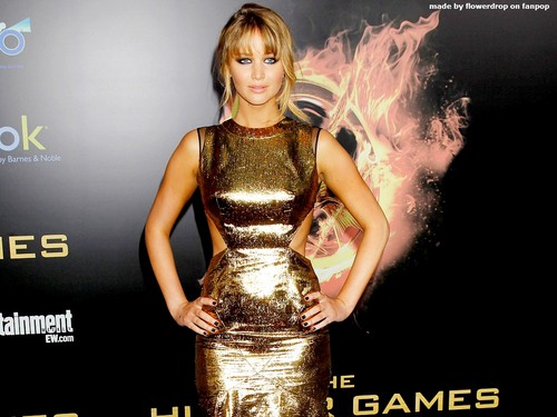 Jennifer Lawrence wallpaper probably containing a dinner dress and a cocktail dress titled Jennifer Lawrence Wallpaper ღ