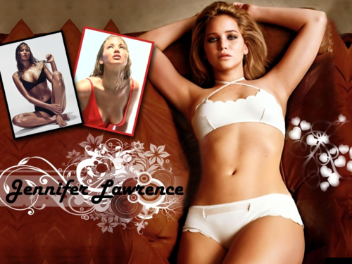 jennifer lawrence wallpaper possibly with a bikini, a lingerie, and a brassiere titled Jennifer Lawrence wallpaper ღ