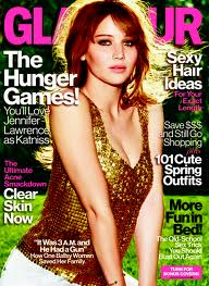 Jennifer Lawrence on Glamour cover