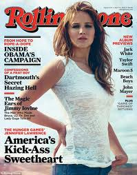 Jennifer Lawrence on Rolling Stone cover