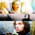 Jon & Morgana - merlin-vs-game-of-thrones fan art