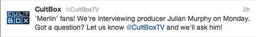 Julian Murphy Interview Tweet
