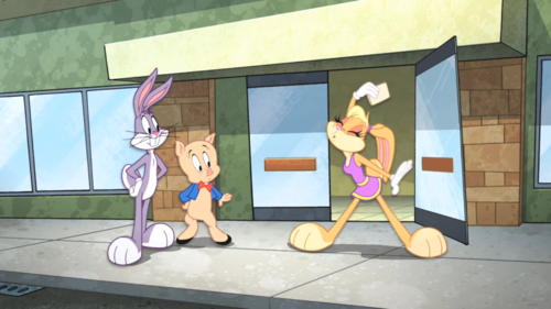 The Looney Tunes Show wallpaper probably with a sign called Just a aleatório Looney-ness