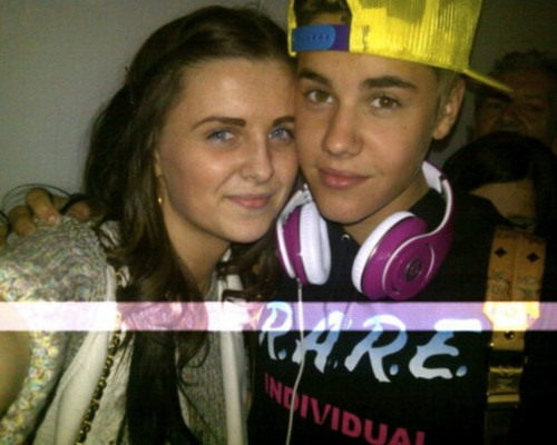 Justin with a fan, london