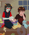 Karkat and Terezi - terezi-pyrope fan art