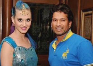 Katy perry n Sachin tendulkar at the IPL Opening