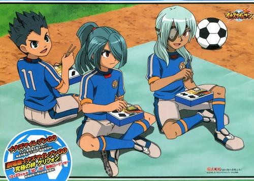 Kazemaru, Sakuma and Toramaru