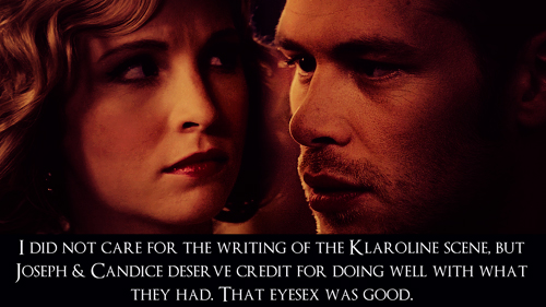 Klaus & Caroline wallpaper containing a portrait called Klaroline Confession