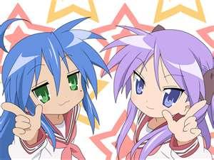 Konata and Kagami <3