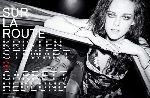 Kristen Stewart & Garrett Hedlund Cover Jalouse May 2012