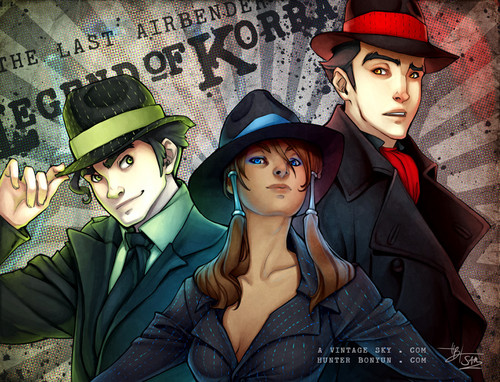 Avatar: The Legend of Korra wallpaper probably containing a fedora titled LOK Fanart