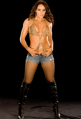 WWE LAYLA wallpaper containing a hip boot entitled Layla Photoshoot Flashback