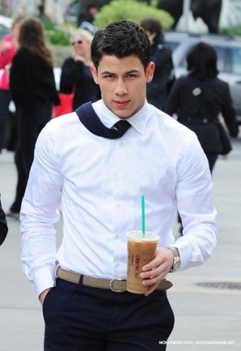 Nick Jonas images Leaving Starbucks 04/30 wallpaper and background photos