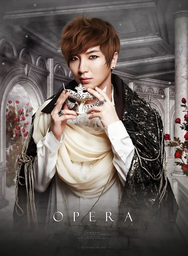 Super Junior wallpaper possibly with a bouquet called Leeteuk OPERA! ^_^ ♥
