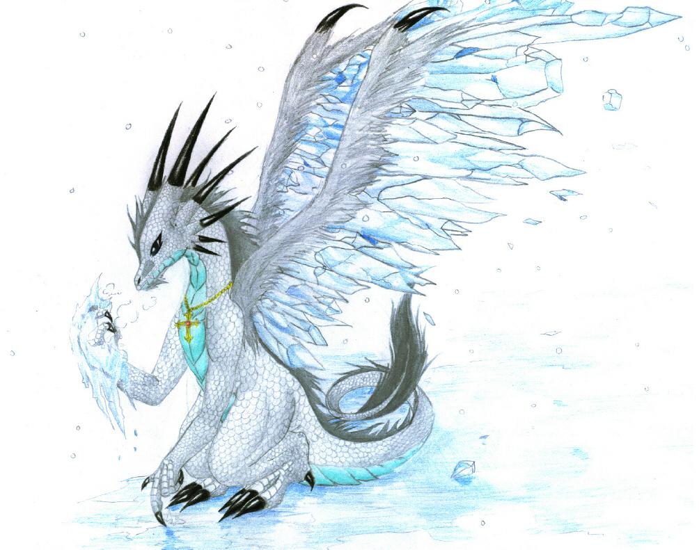 Ice Dragon Drawings