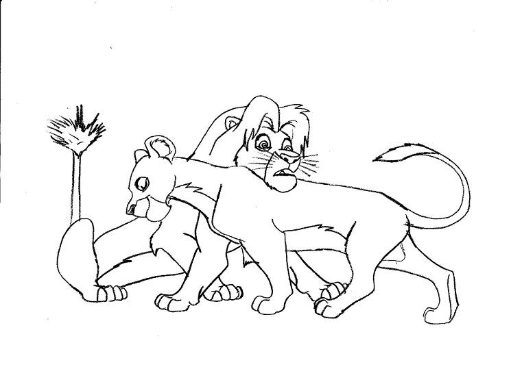Simba And Nala Love Drawings Loving Lions Simba-and-nala