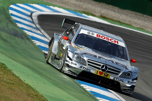 Mercedes-Benz wallpaper probably with a stock car and an auto racing called MERCEDES - BENZ DTM