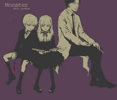 Monster wallpaper with anime titled MONSTER, don't forget it's name!