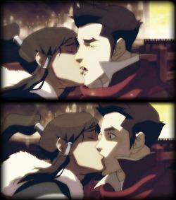 Makorra Kiss in 1x05