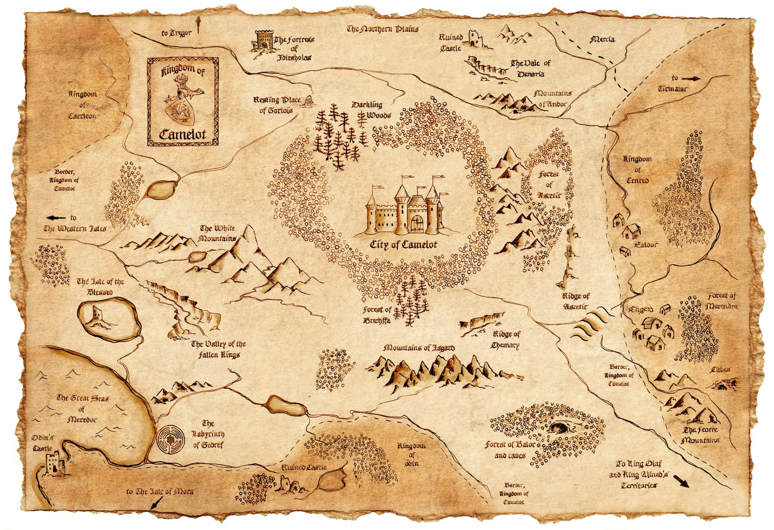 Map of Camelot (for Kim) - Arthur and Gwen Photo (30658049) - Fanpop