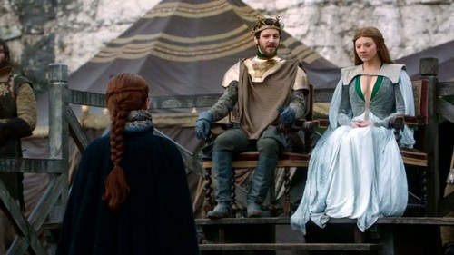 Margaery and Renly with Catelyn