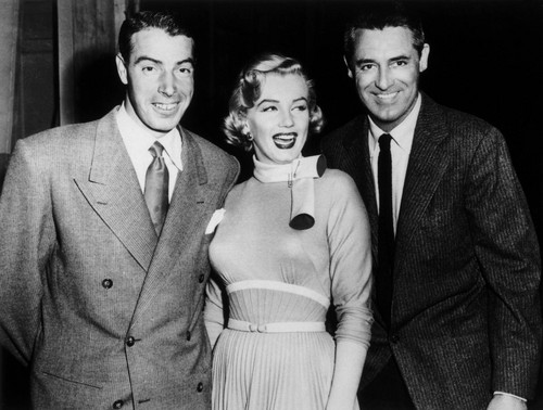 Marilyn Monroe, Joe DiMaggio and Cary Grant (Monkey Business)