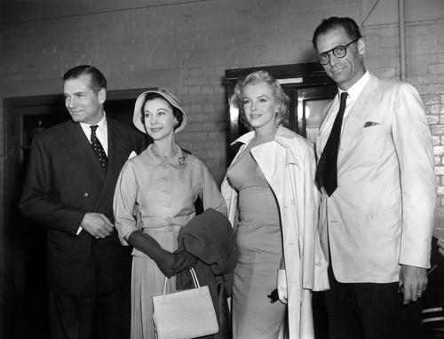 Marilyn Monroe, Laurence Olivier, Vivien Leigh and Arthur Miller