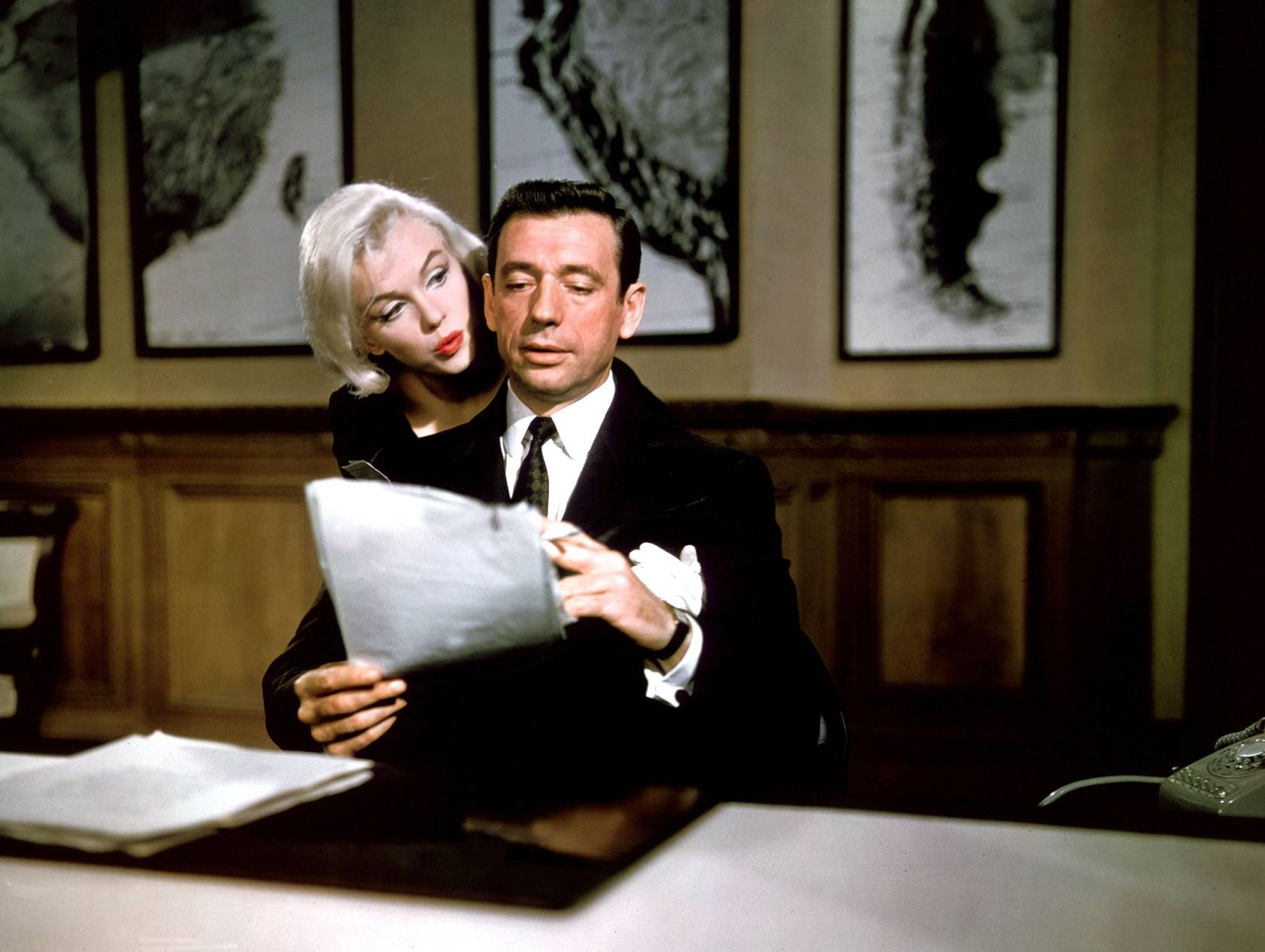 Marilyn Monroe and Yves Montand (Let's Make Love)