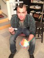 Mark on set of Glee filming season 3 finale - mark-salling photo