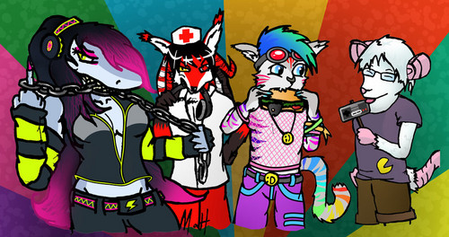 Mayhem, Renard, FIAB, and Kitsune