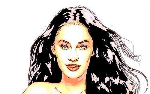 Megan лиса, фокс Cartoonized
