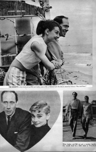 Mel Ferrer and Audrey Hepburn Magazine लेखाए
