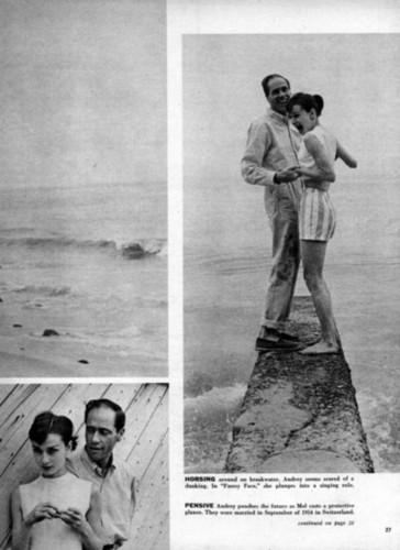 Mel Ferrer and Audrey Hepburn Magazine artikels